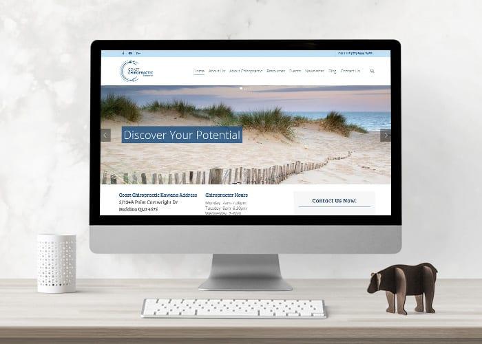 Coast Chiropractic Kawana website